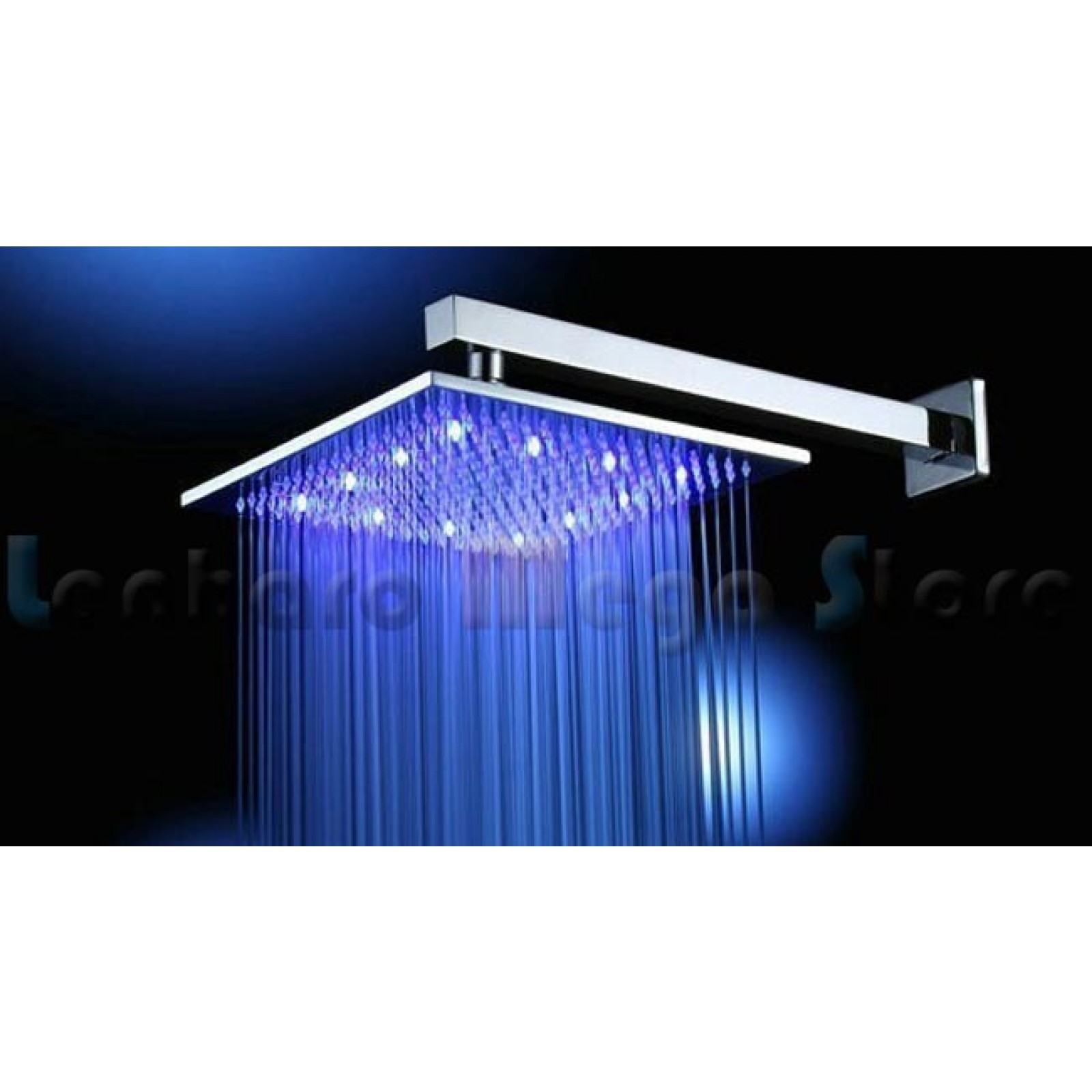 Ducha de metal com led 40cm x 40cm cromada lms 004 1 for Led para ducha