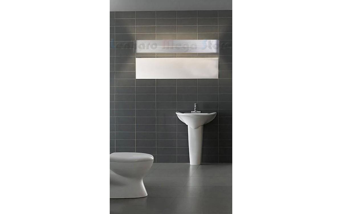 Luminária Arandela Para Banheiro Led 16w 58cm Alumínio