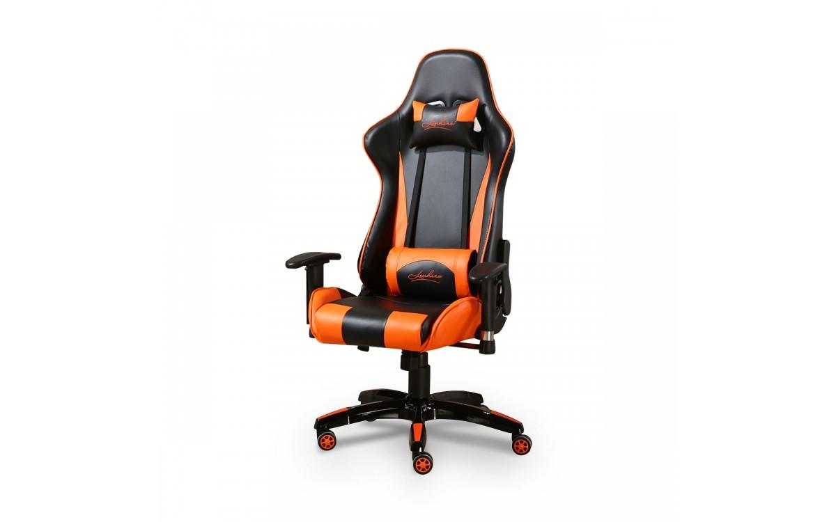 Cadeira Gamer Giratoria Com Regulagem De Encosto E Bracos Preta E Laranja Panther Lms By 8 141 Cores Escritorio Cadeiras