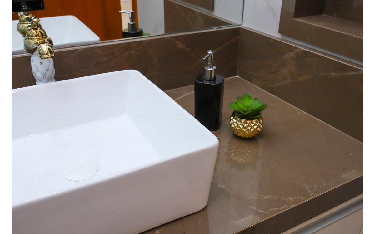 Cuba De Apoio Em Ceramica Para Lavabos E Banheiros Branca Premium Lms Mk 4013 Ceramica Cubas Para Banheiro