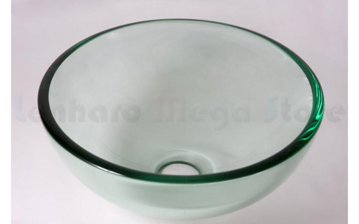 Cuba De Vidro Redonda Para Lavabos E Banheiros Transparente 30cm Lms Ck1 305 Cubas Para Banheiro