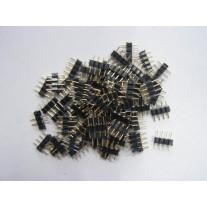 Kit com 5 Conectores para fita led  5050 RGB - 10mm - Macho x Macho - 4 pinos - LMS-K5C5050RGB