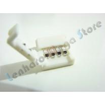 Kit com 5 Conectores para fita led RGB 5050 - para fita (12V) sem Silicone - 10mm - 978