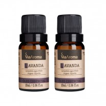 Kit com 2 Óleos Essenciais de Lavanda - Via Aroma - LMS-VA-LVD-10ML