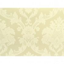 Papel de Parede - Amarelo com Arabescos em Creme - Rolo com 10m x 53cm - LMS-PPD-712003