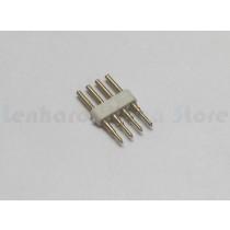 Kit com 5 Conectores de emenda para fita led 5050 RGB sem silicone - 110v e 220v - 1682
