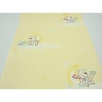 Papel de Parede - Amarelo com Desenhos Infantis - Rolo com 10m x 53cm - LMS-PPY-YWC7-LJ1102