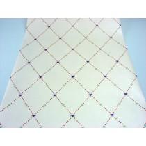 Papel de Parede -  Creme com desenho Xadrez - Rolo 10m x 53cm - LMS-PPD-A5043