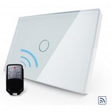 Interruptor Touch Screen com 1 botão com Função Remote - Branco - Livolo - LMS-VL-C301R-81