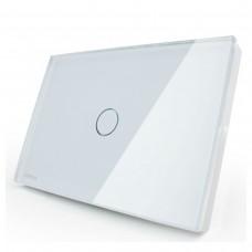 Interruptor Touch Screen com 1 botão com Função Paralelo - Branco - Livolo - LMS-VL-C301S-81
