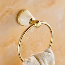 Porta Toalha de Rosto / Toalheiro em Metal Dourado - Acabamento Redondo - LMS-AB86205G
