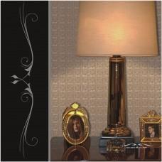 Papel de Parede Lavável - Lindo desenho - Marrom - Rolo com 10m x 53cm - LMS-PPY-120707