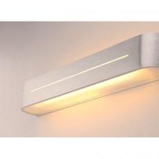 Luminária Arandela P/ Banheiro Led 12w - 48cm - 220 v - Alumínio Escovado - Branco Quente - LMS-ARNDL-BAN-L12W220