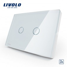 Interruptor Touch Screen com 2 botões com Função Paralelo - Branco - Livolo - LMS-VL-C302S-81