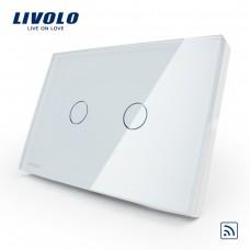 Interruptor Touch Screen com 2 botões - Branco - Livolo - LMS-VL-C302-81