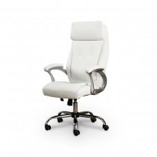 Cadeira Presidente almofadada para escritório BRANCA - LMS-BY-8-627