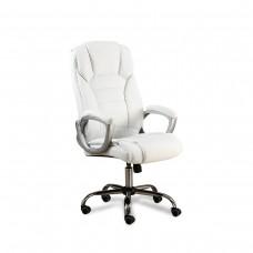 Cadeira Presidente almofadada para escritório BRANCA - LMS-BY-8-670