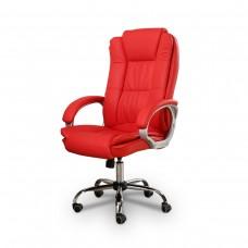 Cadeira Presidente Giratória Almofadada para Escritório Vermelha - LMS-BY-8-661-1