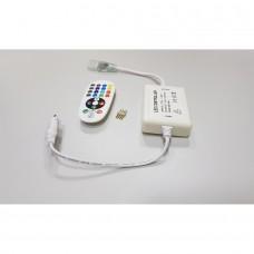 Controlador + Controle de 24 botões para fita RGB colorida Bivolt - RF - LMS-CTRGB24-RF