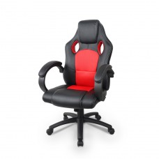Cadeira Gamer Giratória - Preta e Vermelha - LMS-GU-Y-2844