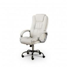 Cadeira Presidente Giratória Almofadada para Escritório Branca - LMS-BY-8-661-1