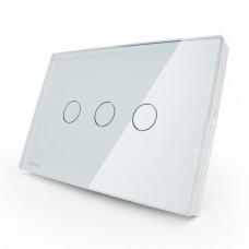 Interruptor Touch Screen com 3 botões com Função Paralelo - Branco - Livolo - LMS-VL-C303S-81