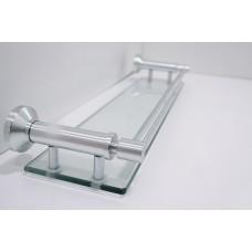 Porta Shampoo em Alumínio com Suporte de Vidro - Acabamento Redondo - LMS-XDL-8516