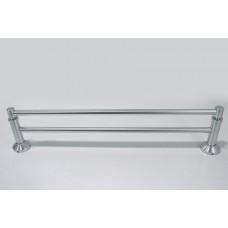 Porta Toalha Longo Duplo / Toalheiro em Alumínio - Acabamento Redondo - LMS-XDL-8502