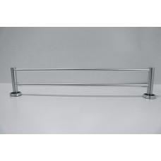 Porta Toalha Longo Duplo / Toalheiro em Alumínio - Acabamento Redondo - LMS-XDL-8102