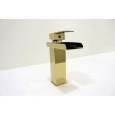 Torneira para Banheiro Dourada, Misturador com Monocomando - LMS-XDL-T518G