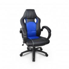 Cadeira Gamer Giratória - Preta e Azul - LMS-GU-Y-2844