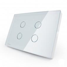 Interruptor Touch Screen com 4 botões - Branco - Livolo - LMS-VL-C304-81