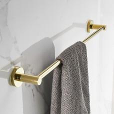 Porta Toalha Longo / Toalheiro em Metal Dourado - Acabamento Redondo - LMS-BMI-AB9524G