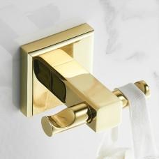Porta Toalha Gancho / Toalheiro em Metal Dourado - Acabamento Quadrado - LMS-BMI-AB8904G
