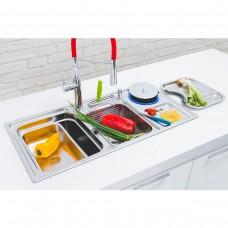 Kit Cuba Gourmet em Inox Dupla para Cozinha - Linha Ultra - LMS-FSH-7802