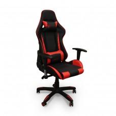 Cadeira Gamer Giratória com Regulagem de Encosto e Braços - Preta e Vermelha - Panther - LMS-YO-8-141