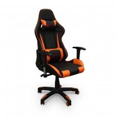 Cadeira Gamer Giratória com Regulagem de Encosto e Braços - Preta e Laranja - Panther - LMS-YO-8-141