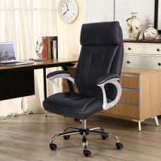 Cadeira Presidente almofadada para escritório PRETA - LMS-BY-8-627