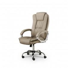 Cadeira Presidente Giratória Almofadada para Escritório Marrom / Taupe / Bege Médio - LMS-YO-8-661-1