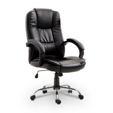 Cadeira Presidente almofadada para escritório Preta - LMS-YO-8-661