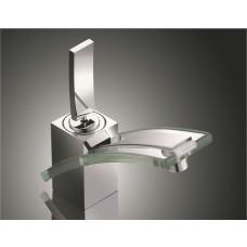 Torneira para Banheiro com misturador, monocomando com detalhe em acrílico Transparente - LMS-8128T