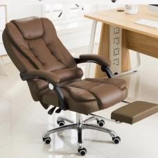 Cadeira para Escritório Giratória com apoio para os pés Big Boss - Marrom - LMS-BE-8436-T3 - Marrom