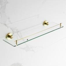 Porta Shampoo dourada com vidro, com proteção frontal 100% Metal, LenharoMegaStore