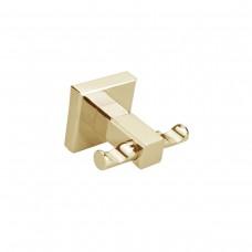 Porta Toalha Gancho / Toalheiro em Metal Dourado - Acabamento Quadrado - LMS-AB8904G