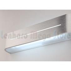 Luminária Arandela Para Banheiro Led 12w - 48cm - Alumínio Escovado - Branco Frio