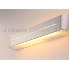 Luminária Arandela Para Banheiro Led 16w - 58cm - Alumínio Escovado - Branco Quente