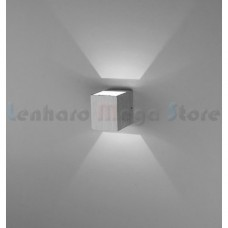 Luminária Arandela Super Led 6w Alumínio - Prata - Branco Frio