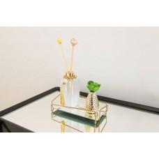 Bandeja Espelhada Angulo Golden em Metal Dourado - 10 x 20 cm - LMS-HR-BAG-01020