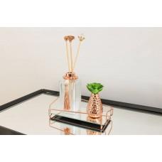 Bandeja Espelhada Angulo Rose em Metal Dourado Rosé - 10 x 20 cm - LMS-HR-BAR-01020