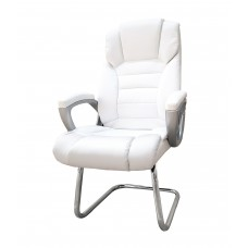 Cadeira Presidente almofadada para escritório BRANCA com Base Fixa - LMS-BY-8-670-F